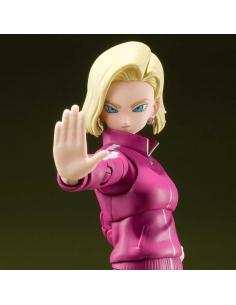 Dragon Ball Super figurine - S.H. Figuarts Android 18 (Universe Survival Saga) gros plan