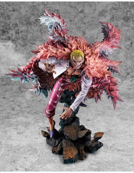 One Piece statuette POP Heavenly Demon Donquixote Doflamingo de face
