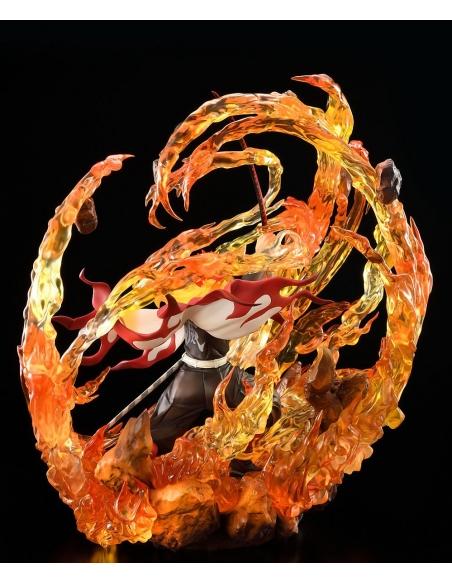 Demon Slayer: Kimetsu no Yaiba statue 1/8 Kyojuro Rengoku DX Ver. profile droit
