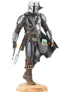 Star Wars The Mandalorian - statuette Premier Collection 1/7 The Mandalorian with The Child