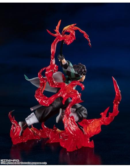 Demon Slayer: Figurine Kimetsu No Yaiba - Figuarts Zero Tanjiro Kamado (Total Concentration Breathing) de profil