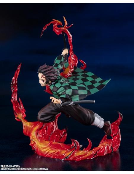 Demon Slayer: Figurine Kimetsu No Yaiba - Figuarts Zero Tanjiro Kamado (Total Concentration Breathing) coté gauche
