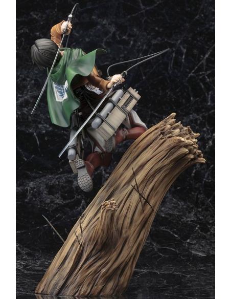 Attack on Titan Figurine PVC - ARTFXJ 1/8 Levi Renewal Package Ver. de dos