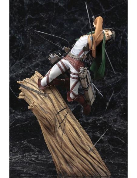 Attack on Titan Figurine PVC - ARTFXJ 1/8 Levi Renewal Package Ver. légérement inclinée