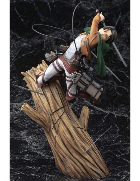 Attack on Titan Figurine PVC - ARTFXJ 1/8 Levi Renewal Package Ver. vu global