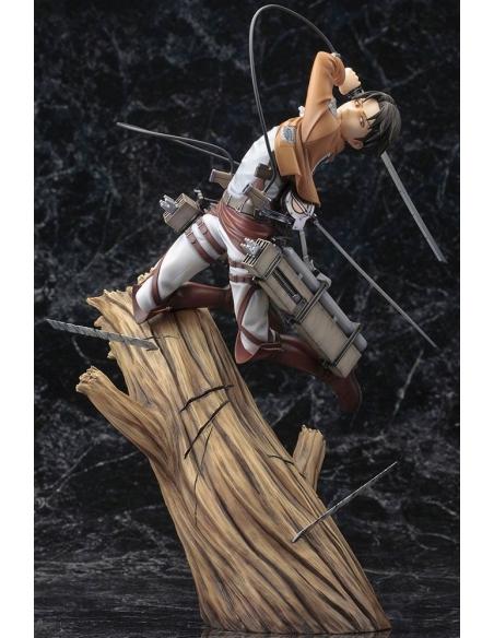 Attack on Titan Figurine PVC - ARTFXJ 1/8 Levi Renewal Package Ver. vu global sans la cape
