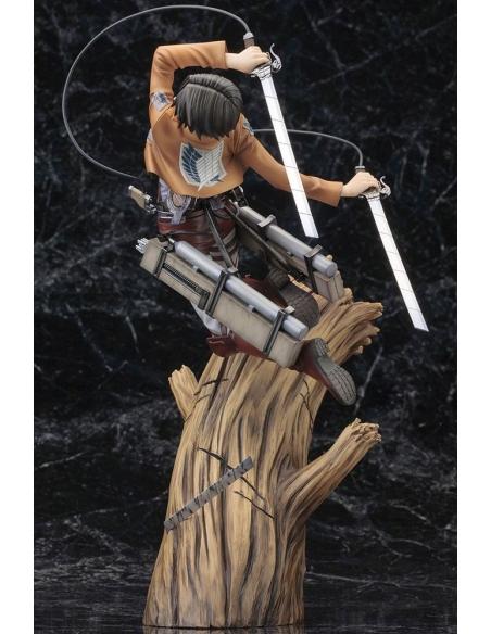 Attack on Titan Figurine PVC - ARTFXJ 1/8 Levi Renewal Package Ver. vu globale de dos