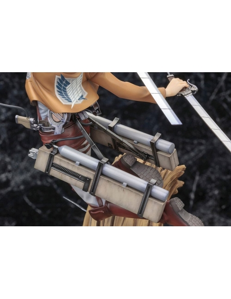 Attack on Titan Figurine PVC - ARTFXJ 1/8 Levi Renewal Package Ver. son équipement