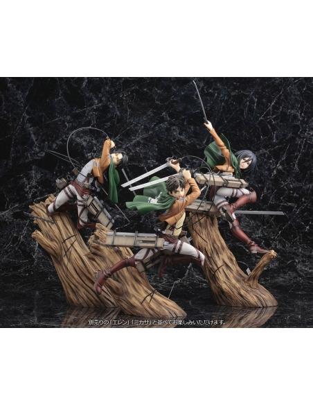 Attack on Titan Figurine PVC - ARTFXJ 1/8 Levi Renewal Package Ver. vu de groupe