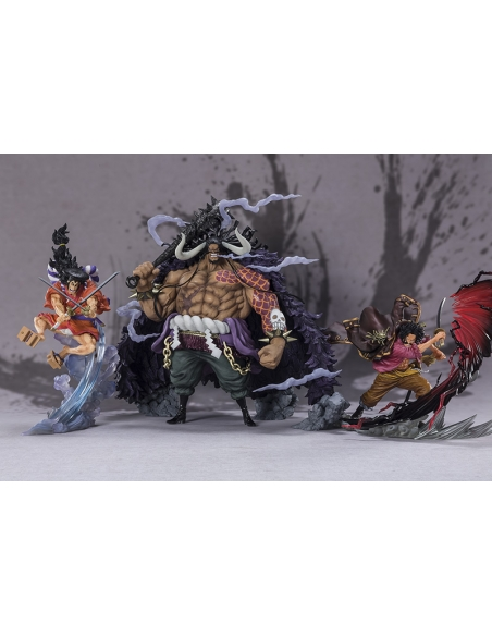One Piece Figurine - Figuarts Zero Kaido - King Beast Battle comparaison avec kuzan et gol d roger